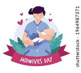happy midwives day. 5 may....   Shutterstock .eps vector #1964987371