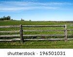 A Split Rail Fence Along A...