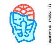 frozen fish color icon vector.... | Shutterstock .eps vector #1965024451