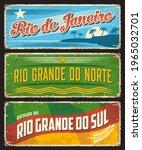 brazil sign of rio de janeiro ... | Shutterstock .eps vector #1965032701