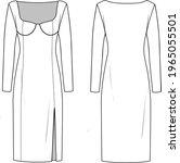 Women's Knit Dress With Corset. ...