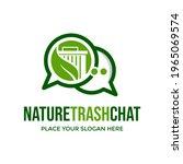 nature trash chat vector logo... | Shutterstock .eps vector #1965069574