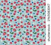 fruits seamless pattern.... | Shutterstock . vector #1965083047