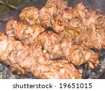 shish kebab preparation on a... | Shutterstock . vector #19651015