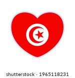 Tunisia Flag In A Shape Of...