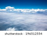 White Cloud And View Above The...