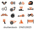 racing icons | Shutterstock .eps vector #196513025