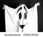 halloween ghost  on dark... | Shutterstock . vector #196515431