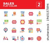 icon set sales made with flat...