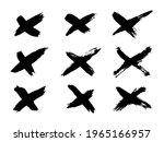 set of vector grunge brushes...   Shutterstock .eps vector #1965166957