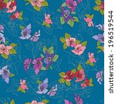 seamless pattern with colorful... | Shutterstock .eps vector #196519544