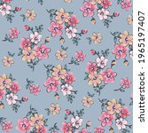 floral pattern in small...   Shutterstock .eps vector #1965197407