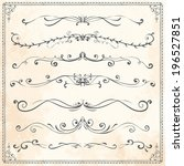 set of vintage vector dividers  ... | Shutterstock .eps vector #196527851