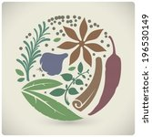different vector spices in a... | Shutterstock .eps vector #196530149