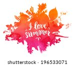 floral summer background with...   Shutterstock .eps vector #196533071