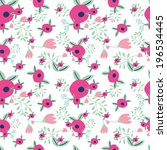 beautiful floral seamless... | Shutterstock .eps vector #196534445