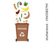 garbage bin with organic waste  ...   Shutterstock .eps vector #1965383794
