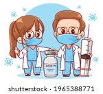 doctor and coronavirus vaccine...   Shutterstock .eps vector #1965388771