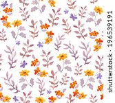 seamless naive floral... | Shutterstock . vector #196539191