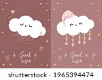 two good night posters with...   Shutterstock .eps vector #1965394474