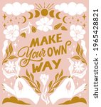 make your own way ... | Shutterstock .eps vector #1965428821