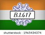 mutation b.1.617  a variant of...   Shutterstock .eps vector #1965434374