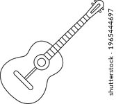 guitar on white background....