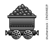 iron mine cart with coil for...