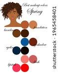 best makeup colors for spring...   Shutterstock .eps vector #1965458401