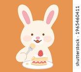 adorable bunny eating a...   Shutterstock .eps vector #1965460411