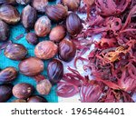Nutmegs That Are Drying In A...