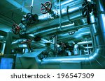 industrial steel pipelines and... | Shutterstock . vector #196547309