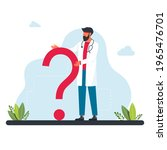 the doctor stands in front of... | Shutterstock .eps vector #1965476701