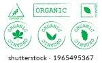 green organic labels. emblems... | Shutterstock .eps vector #1965495367