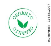 green organic label isolated on ... | Shutterstock .eps vector #1965512077