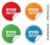 byod sign icon. bring your own... | Shutterstock . vector #196551221