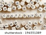 Small photo of The word Confidence on blocks building