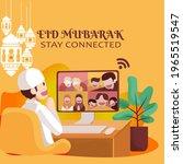 vector illustration of a muslim ... | Shutterstock .eps vector #1965519547