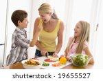 mother and children prepare a... | Shutterstock . vector #19655527