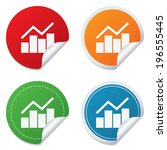 graph chart sign icon. diagram... | Shutterstock . vector #196555445