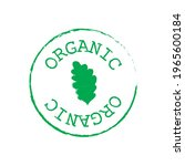 green organic label isolated on ... | Shutterstock .eps vector #1965600184