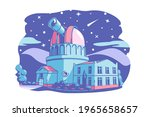 observatory building with... | Shutterstock .eps vector #1965658657