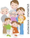 an image of three generation... | Shutterstock . vector #196568765