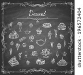 vintage collection of desserts. ... | Shutterstock .eps vector #196572404