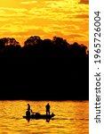 Fishing at sunset on Lake Guntersville