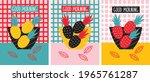 breakfast poster set with... | Shutterstock .eps vector #1965761287