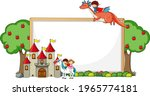 empty banner with fairy tale... | Shutterstock .eps vector #1965774181