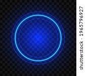 neon round blue frame  isolated ... | Shutterstock .eps vector #1965796927