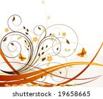 autumn vector floral background | Shutterstock .eps vector #19658665