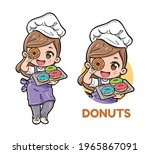 cute female chef carrying...   Shutterstock .eps vector #1965867091